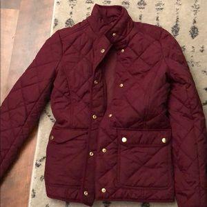 JCrew cranberry jacket